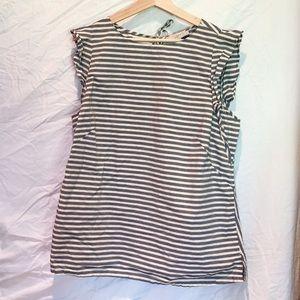 Ruffle stripe top
